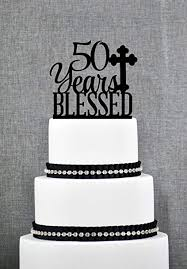 Amazoncom 50 Years Blessed Cake Topper For Men Classy 50th