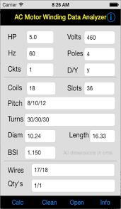 ac motor winding data yzer by german torres garcia