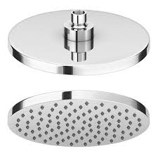 cruze 200mm round shower head swivel joint