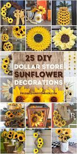 25 sunflower dollar diy home