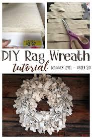 diy rag wreath tutorial beginner level project costs under 10