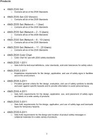 Ansi Z535 Color Chart Nema Standards Strategic Marketing Plan Ansi Z Ansi Z Pdf