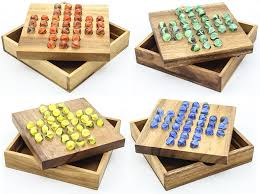 Wooden Solitaire Game With Marbles Solitaire Marble Glass Wooden Brain Teaser Game 90