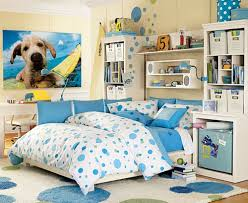 girls bedroom ideas blue. Endearing Room Decorating Ideas For Girls Bedroom : Fantastic Interior Design With Blue Polka Dots Comforter
