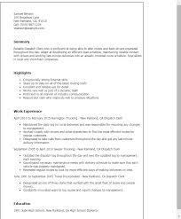 Resume Templates: Dispatch Clerk