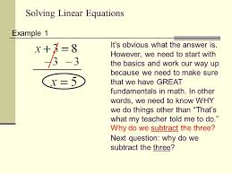 solving linear equations 2 example
