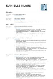 Instructional Technology Specialist Resume Samples Visualcv Resume