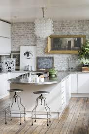 Exposed Brick Kitchen Kitchen With Brick Wall Home Design Ideas
