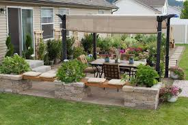 Small Picture Patio design Neat knee wall Patio Pinterest Patios Walls