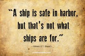 Quotes About Courage Fascinating Courage Quote A Ship Is Safe In Harbor But That's Not What Ships