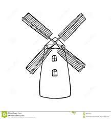 farm windmill drawing. Drawn Windmill Vector #8 Farm Drawing W