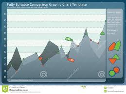 Stock Comparison Chart Comparison Graphic Chart Stock Vector Illustration Of