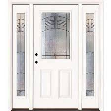 home depot front doors with sidelightsSingle door with Sidelites  Front Doors  Exterior Doors  The