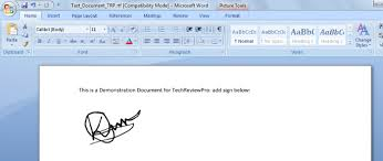 How To Digitally Sign A Word Document Electronic Signature In Word How To Insert Digital Signature In Word