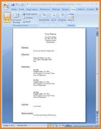 Job Resume Format Word Document Jennie Design