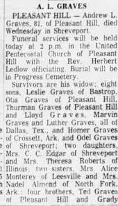 Obituary for A. L. GRAVES (Aged 81) - Newspapers.com
