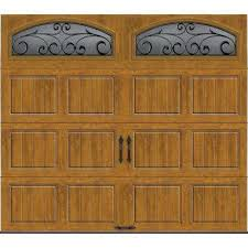 brown garage doors with windows. Gallery Collection Insulated Short Panel Garage Door With Wrought Iron Window Brown Doors Windows