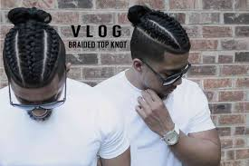 Fresh Cut New Style Braids Samurai Top Knot Man Bun Hair