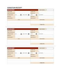 donation receipt template slip red theme