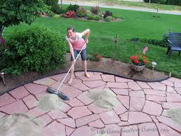 loose flagstone patio. This Grandmother\u0027s Garden: Filling In The Gaps: Part 3 Of Our DIY Flagstone Patio Loose O