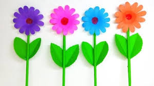 Make Flower With Paper How To Make Daisy Flower With Paper Making Flower Step By Step
