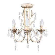 odelia 3 way chandelier in acrylic