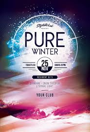 Winter Flyer Template Pure Winter Flyer Template Download PSD File 24 плакат 17