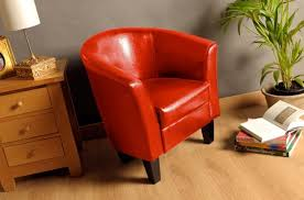 clearance faux leather tub chair armchair with