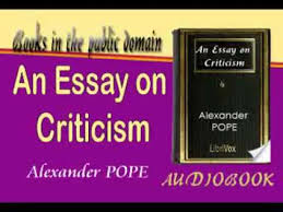 an essay on criticism alexander pope audiobook  an essay on criticism alexander pope audiobook