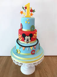 Mickey Mouse 1st Birthday Cake The Cakery Leamington Spa