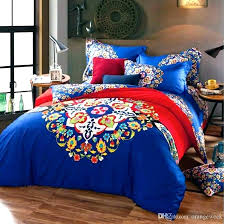 moroccan duvet cover bedding set comforter high bed sheet luxury print fl bedding sets queen size moroccan duvet cover