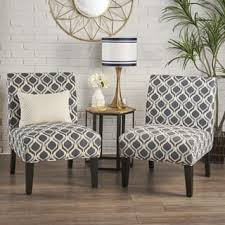 living room accent chairs. Simple Accent Saloon Fabric Print Accent Chair Set Of 2 By Christopher Knight Home Intended Living Room Chairs A