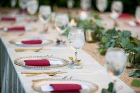 Reception Table Set Up Elegant Table Set Up For Dinner For Either Wedding Reception Or