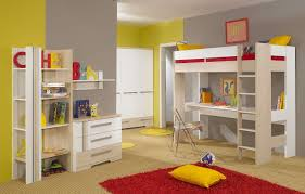 Kids Desks For Bedroom Kids Room Comfortable White Painted Wood Loft Bed With Desk