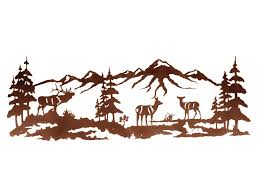 elk wildlife metal wall art