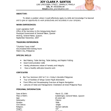 Sample Hotel Resume Hotel Resume Format It Resume Cover Letter Sample With Regard To 30