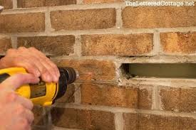 how to remove brick fireplace step 2 attach a wood cleat to the front of the how to remove brick fireplace