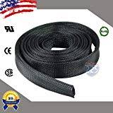 amazon com black 1 4 100ft braided expandable flex sleeve wiring all sizes colors 5 ft 100 ft expandable cable sleeving braided tubing lot