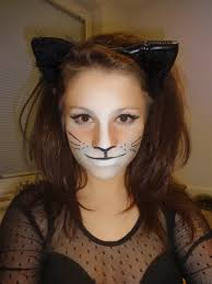 drawing cat whiskers on face