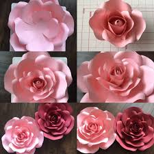 How To Make Paper Flower Backdrop Anns Paper Flower Blooms Paper Flowers Flower Template Flowers