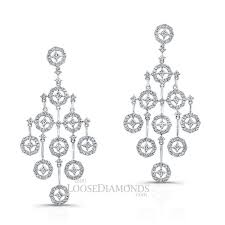 you are looking at our las art deco style diamond chandelier earrings shown in white gold these diamond chandelier earrings come with 3 66 carats of
