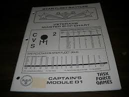 Star Fleet Battles Master Ship Chart Star Fleet Battles Tournament Book Captains Module T