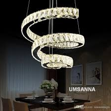 led modern crystal chandeliers dimmable spiral chandelier lights fixture dimming hanging lamp cafes villa home indoor lighting canada 2019 from umsannagu