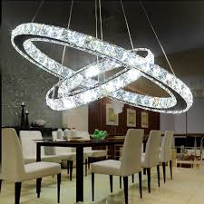 home lighting decor. angel halo ring led chandelier modern minimalist living room creative crystal restaurant lighting home decor t