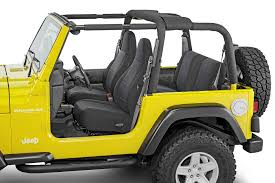 tecstyle custom fit cloth seat covers for 97 06 jeep wrangler tj unlimited quadratec