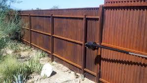 corrugated metal fence palm springs wood framed plans