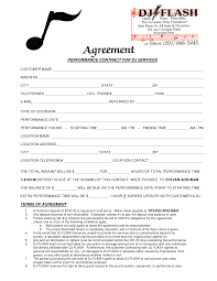 Service Contract Sample Dj Service Contract Template Agreement Forms In Photos HD 21