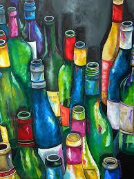 an evening with friends fine art print patti schermerhorn painting wine