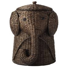 W Animal Laundry Hamper in Brown