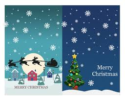Christmas Notecard Christmas Notecards Christmas Spirit Design 2 Per Page For Avery